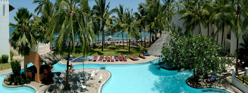 Luxury beach hotels in Mombasa