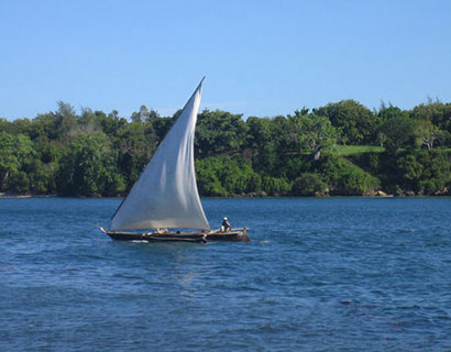 Water sporting at Kilifi Creek, Kenya