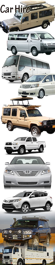 Car hire in Kenya, Tanzania and Uganda