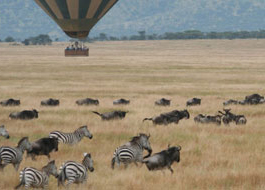 Hot air balloon flights in Kenya