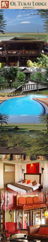 Safari Hotels in Amboseli,Ol Tukai Lodge