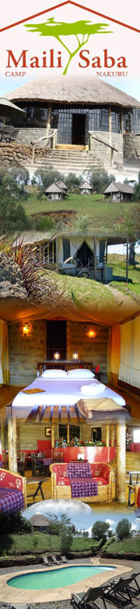 Safari Hotels in Nakuru ,Maili Saba Camp