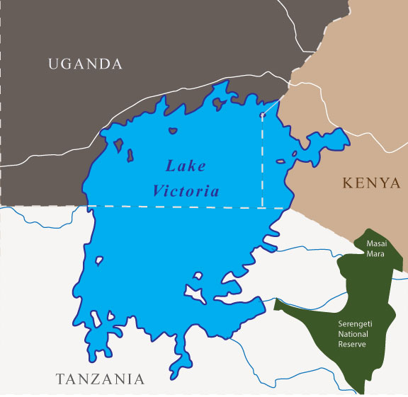 Lake Victoria tour map
