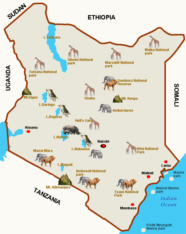kenya camping holiday destinations