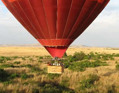 Hot air balloon safari at Masai Mara